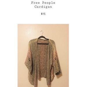 Pastel free people cardigan! Needs a little TLC!